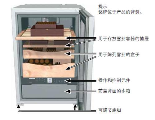 Liebherr雪茄柜的配置及安装