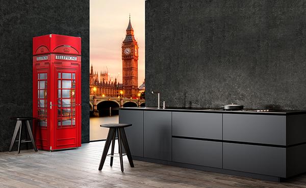 经典怀旧电话亭 利勃海尔冰箱电话亭 设计使人着迷